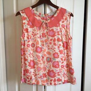 Boden Multi color floral sleeveless shirt 6